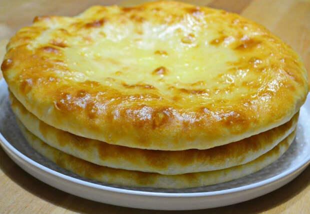 Сделали сразу 3 осетинских пирога: нужна только картошка и сыр