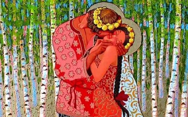 Как наРуси появился обычай целоваться вгубы