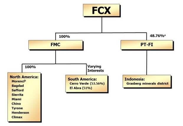 Подразделения FCX