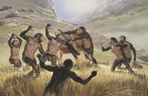 Охота древних людей на антилопу / Фото: pinterest.com
