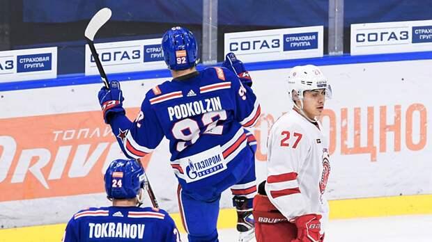 Подколзин стал самым молодым автором гола СКА вплей-офф КХЛ