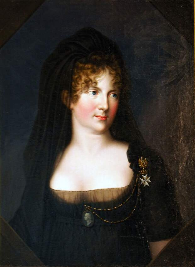 Герхард фон Кюгельген , Портрет царицы Марии Федоровны (1801 г.), Веймарский замок . Царица любила искусство и щедро его поддерживала.