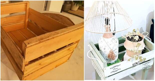 Стоящая идея переделки деревянного ящика. Стильно, бюджетно и практично