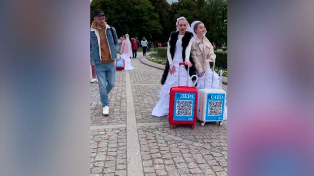 Видео со «свадебным флешмобом» на улицах Петербурга активно вирусится в Сети