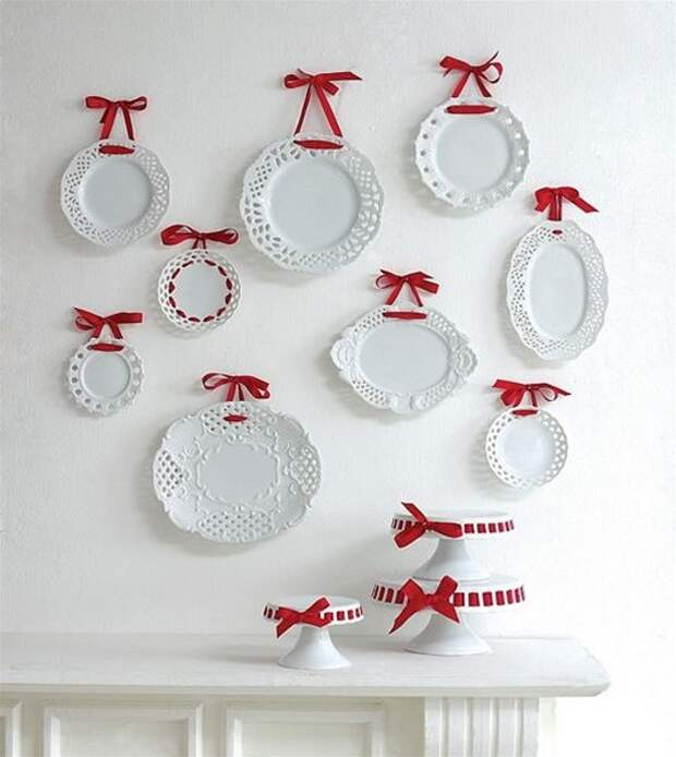 Как повесить тарелки на стену