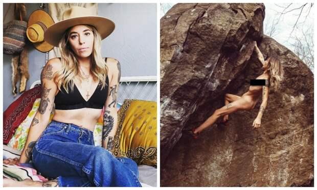 Не порно, а искусство: как голая альпинистка покоряет горы и соцсети