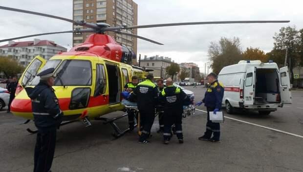 Около 300 пациентов эвакуировала санитарная авиация Подмосковья с начала года