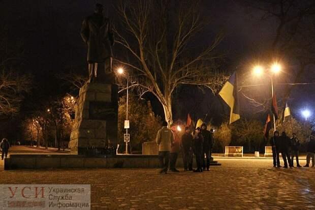 Отпраздновать день рождения Бандеры в Одессе собралось всего 10 активистов