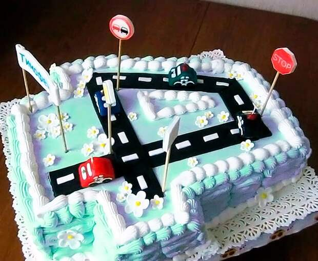 Торт цифра для мальчика