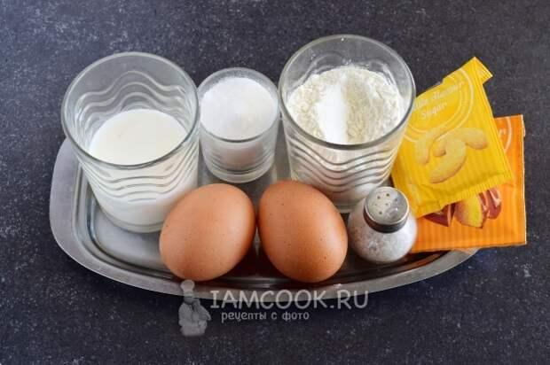 Ингредиенты для японских оладий