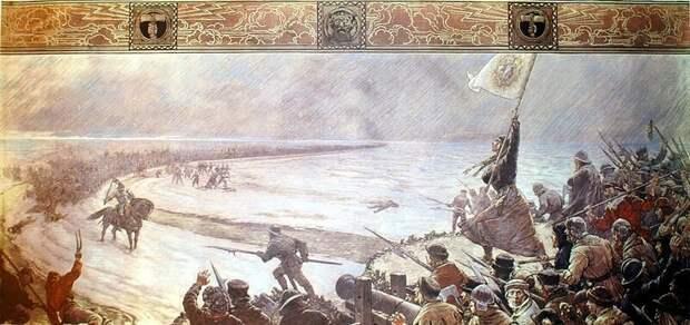 Битва при Хеммингштедте. Картина Макса Коха, 1910 год. Public Domain