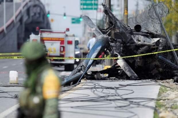 Погиб пилот при крушении вертолёта в Мексике