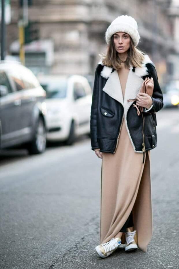 С чем носить платье зимой? /Фото: mtdata.ru