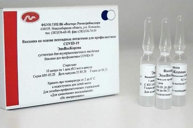 В регионы направлено около 1 млн доз вакцины «Эпиваккорона»