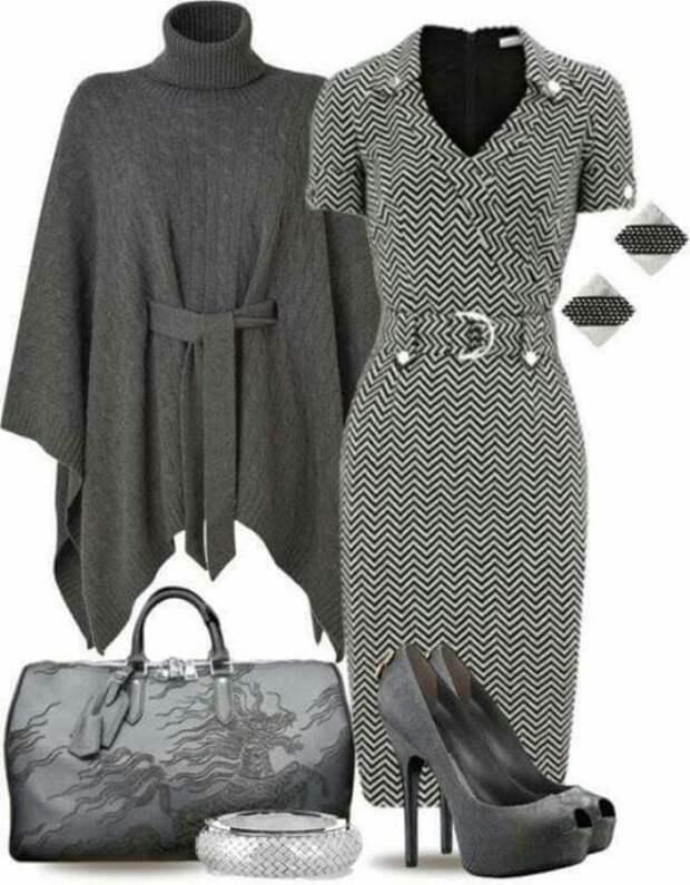Элегантное серое платье: 20+ прекрасных образа