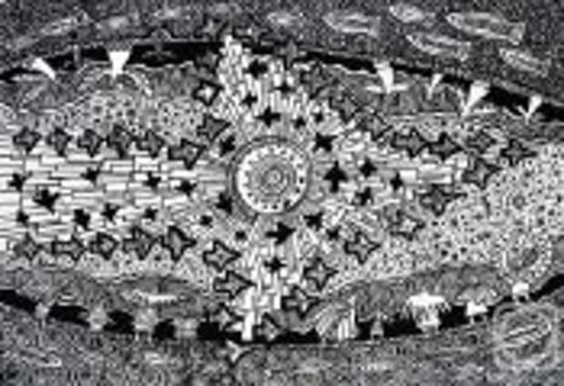 Современное искусство: Какие тайны хранят символы древнего Урала: Художник-график создает картины, похожие на ребусы