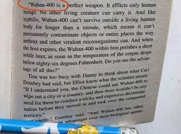 В опубликованной в 1981 году книге есть предсказание о вспышке коронавируса в 2020 году