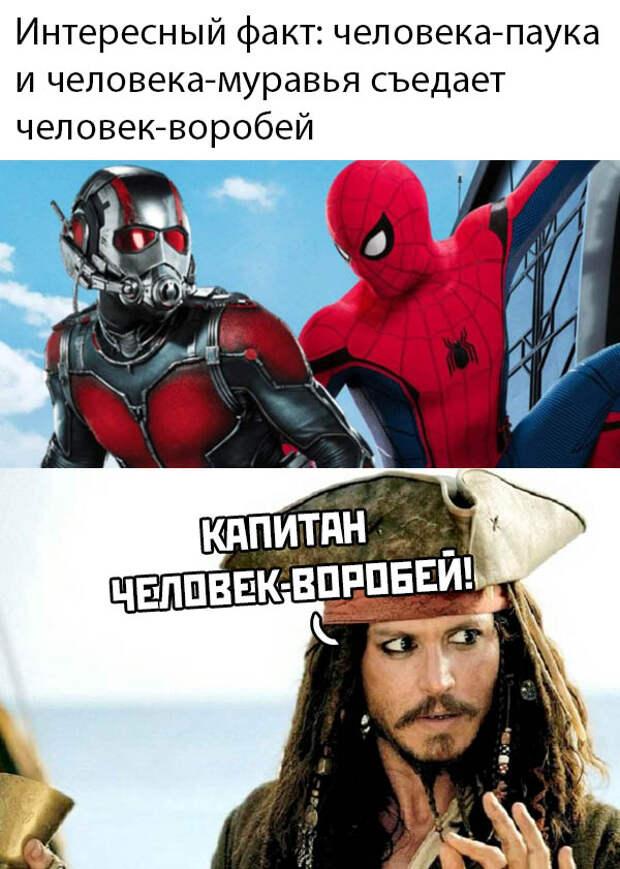 Человек-паук и Джек Воробей