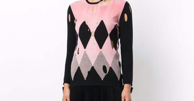 Бомж-стайл как он есть: в моду вошли рваные свитеры