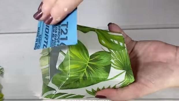 Упаковка тетра пак — находка для цветоводов. Красиво, и не надо покупать в магазине