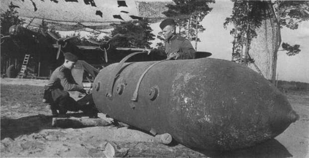 Советская сверхмощная фугасная авиабомба ФАБ-5000НГ.