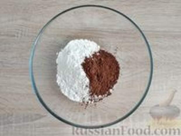 """Фото приготовления рецепта: Шоколадные профитроли с кремом """"Шарлотт"""" - шаг №2"""
