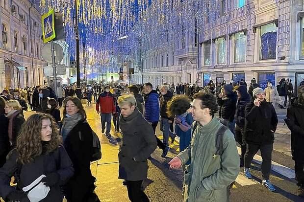 МВД: на незаконной акции в Москве присутствуют около 6 тысяч человек