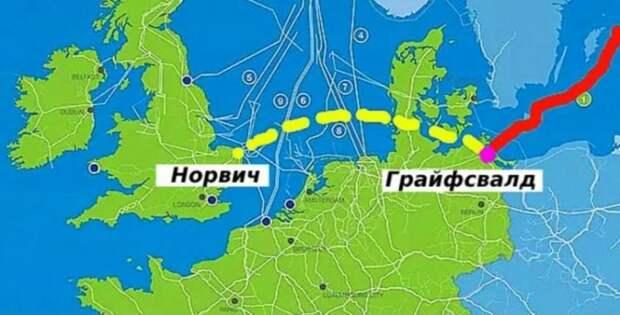 За что Россия наказала Англию, отказавшись продлить «Северный поток» до её берегов