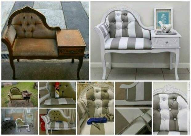Обновление старой мебели: красивые идеи превращения