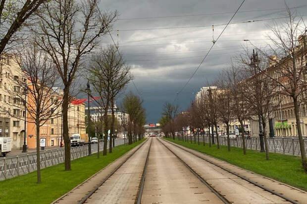 В Петербург с юга пришла тьма. С градом и молниями