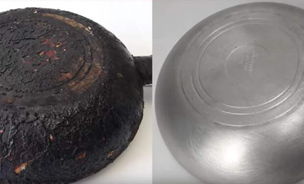 Смешали соду и горчичный порошок: чистим самые грязные сковородки