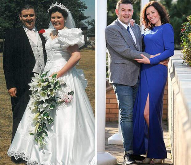 Посмотрите: сегодня, через 22 года брака, они на 60 кило легче, чем в день свадьбы! диета, лишний вес, похудение