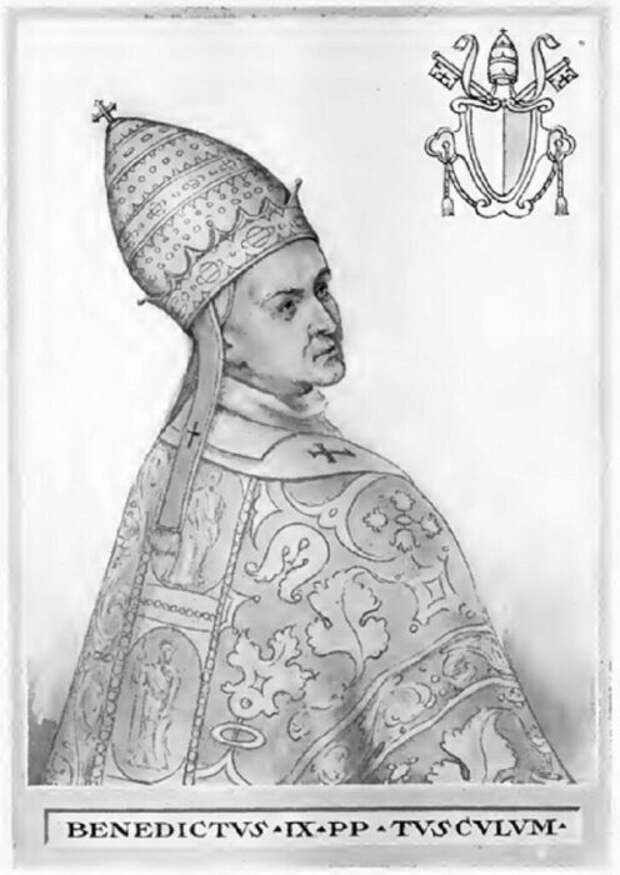 Папа Бенедикт IX считался демоном из Ада в обличье священника. \ Фото: laotracara.co.
