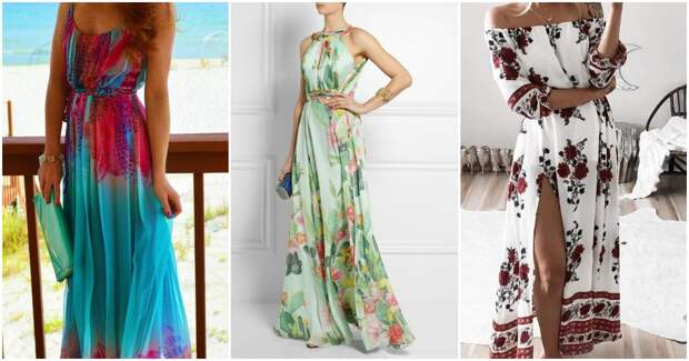 Длинные платья с принтом: 25 элегантных идей