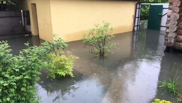 Число подтопленных участков в Подмосковье выросло до 342