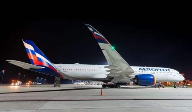 Непогода стала причиной посадки вРостове гигантского самолета Airbus A350