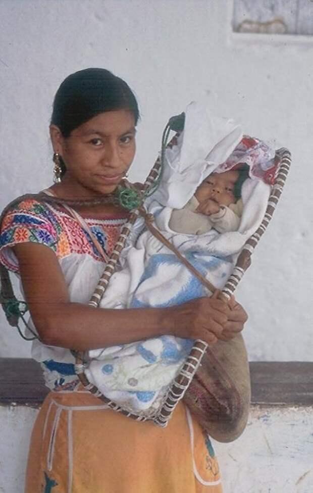 Мексика интересное, младенцы, ношение, обычаи, пеленание, факты