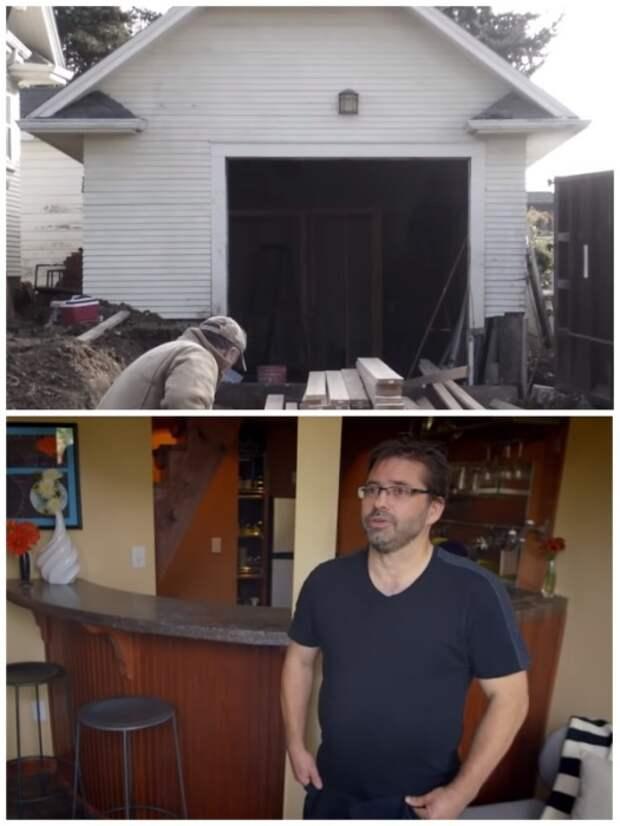 Переоборудованием гаража Мартин занимался сам. | Фото: youtube.com.