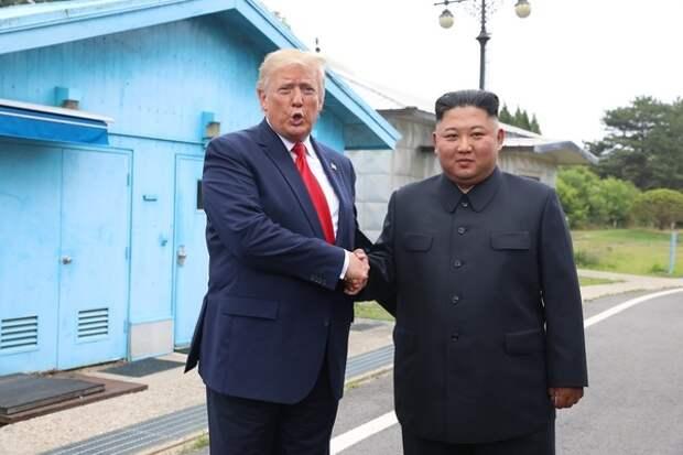 Вторая попытка: Трамп встретился с Ким Чен Ыном в Корее