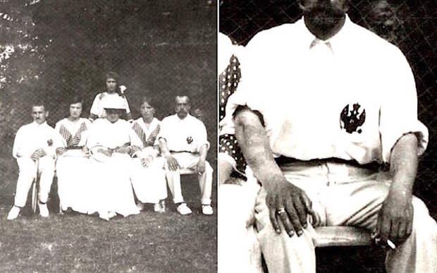 Фотография Николая II, на которой видны его японские татуировки