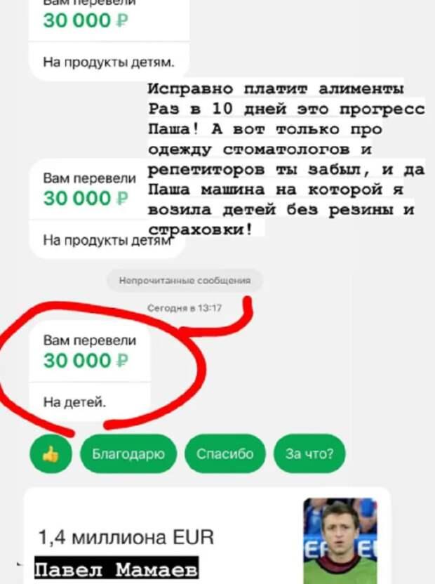Экс-жена Мамаева пошутила о сумме алиментов на детей