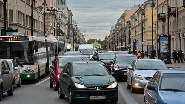 Шестибалльные пробки зафиксировали в Петербурге в субботу