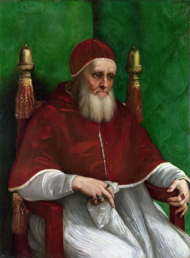 Папа Юлий II был покрыт позорными язвами. \ Фото: pinterest.es.