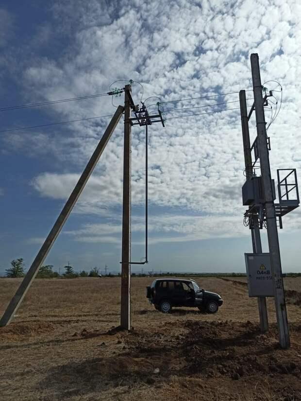 К электросетям подключили 4 скважины в Симферопольском районе