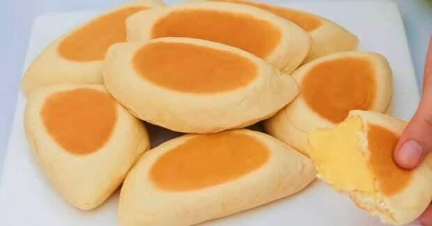 Вкусные булочки с кремом, которые готовятся прямо на сковороде