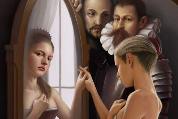 увидеть в зеркало другого человека