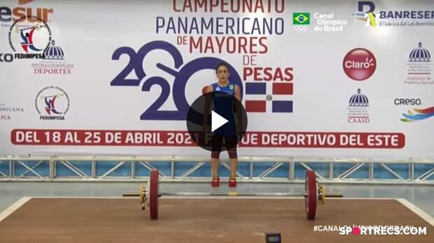 Nathasha Rosa conquista a medalha de prata no Pan-Americano de Levantamento de Pesos (20/04/2021)