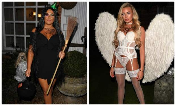 Страшная красота: гламурные участницы британского реалити-шоу нарядились кХэллоуину