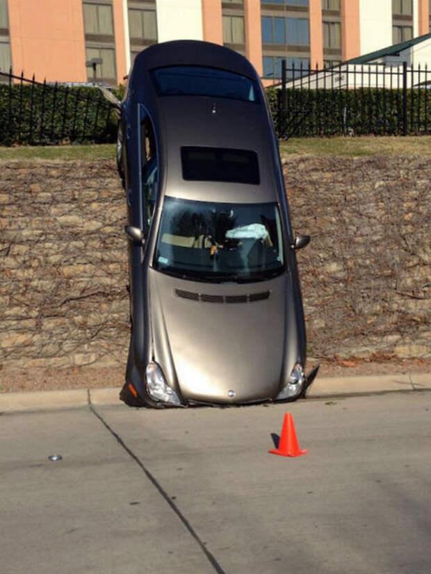 Машина по вертикале.