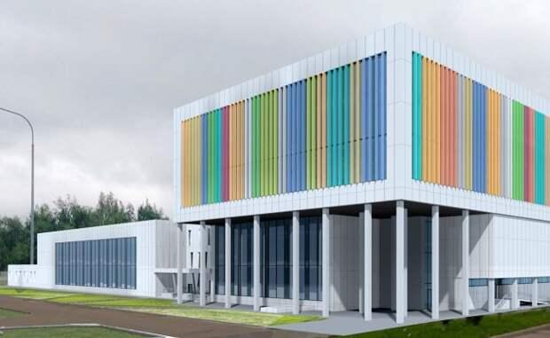 Разноцветные ламели станут украшением нового спорткомплекса в Северном Фото с сайта mos.ru